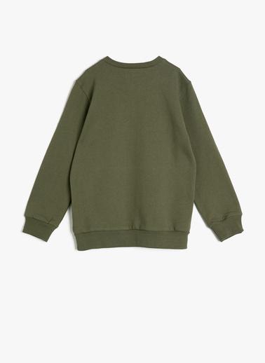 Koton Kids Baskılı Sweatshirt Yeşil